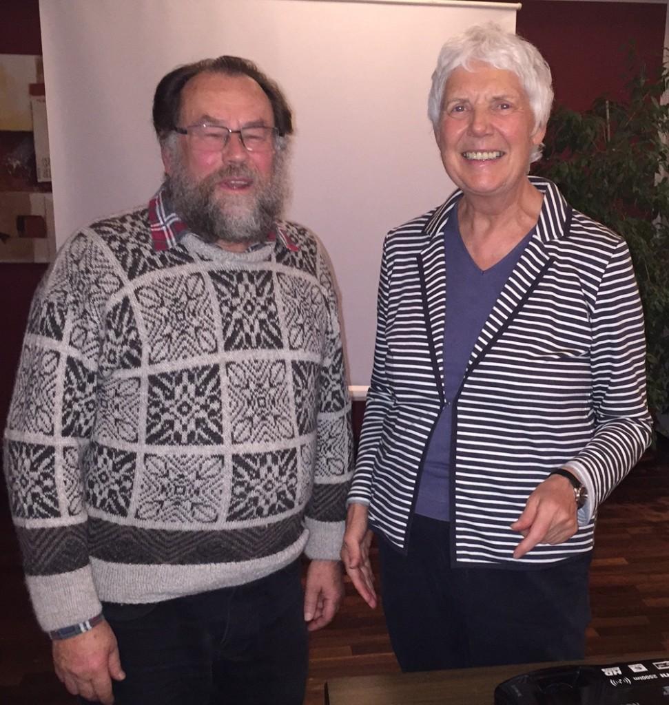 Diethardt Stamm mit der Vorsitzenden des EES Jutta Kneißel
