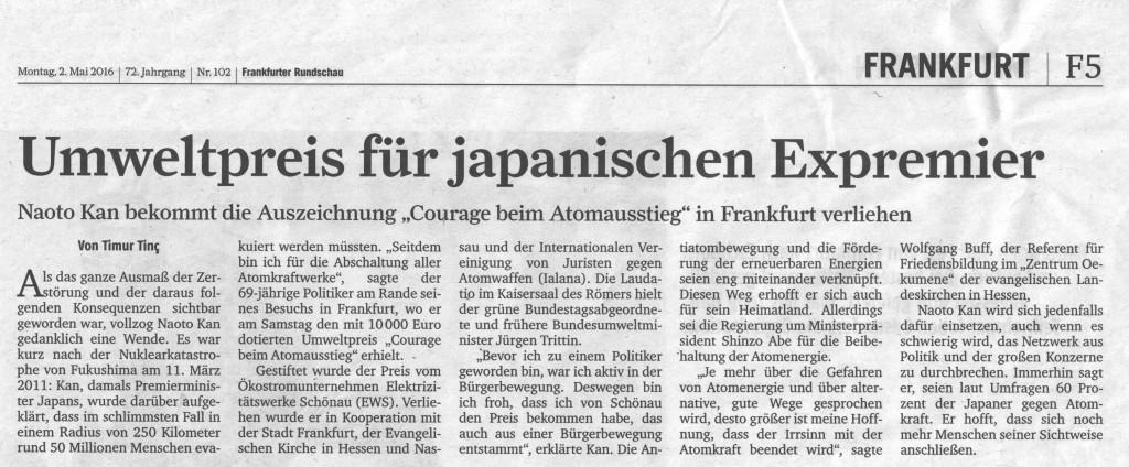 Bericht in der Frankfurter Rundschau