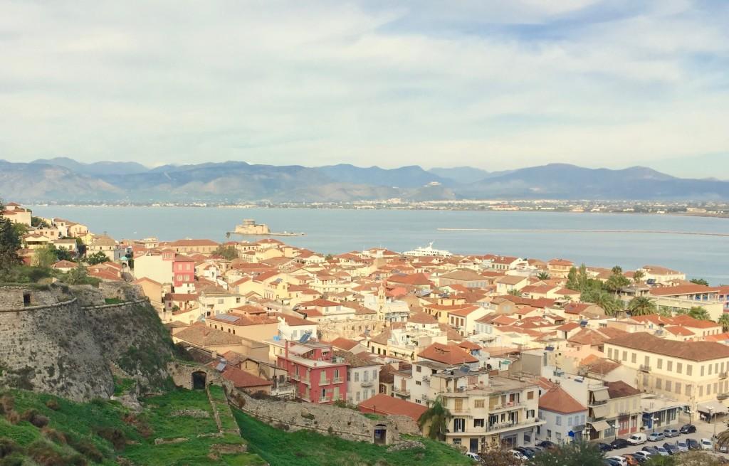 Blick auf die Altstadt von Nafplio, der ehemaligen griechischen Hauptstadt