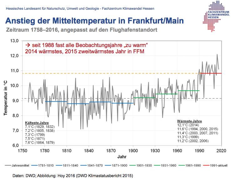 Temperatur Frankfurt